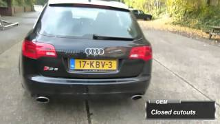 Audi RS6 5.0 V10 - Vacuüm exhaust cutouts by EPS Uitlaten