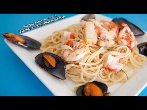 Receita de Esparguete com Frutos do Mar