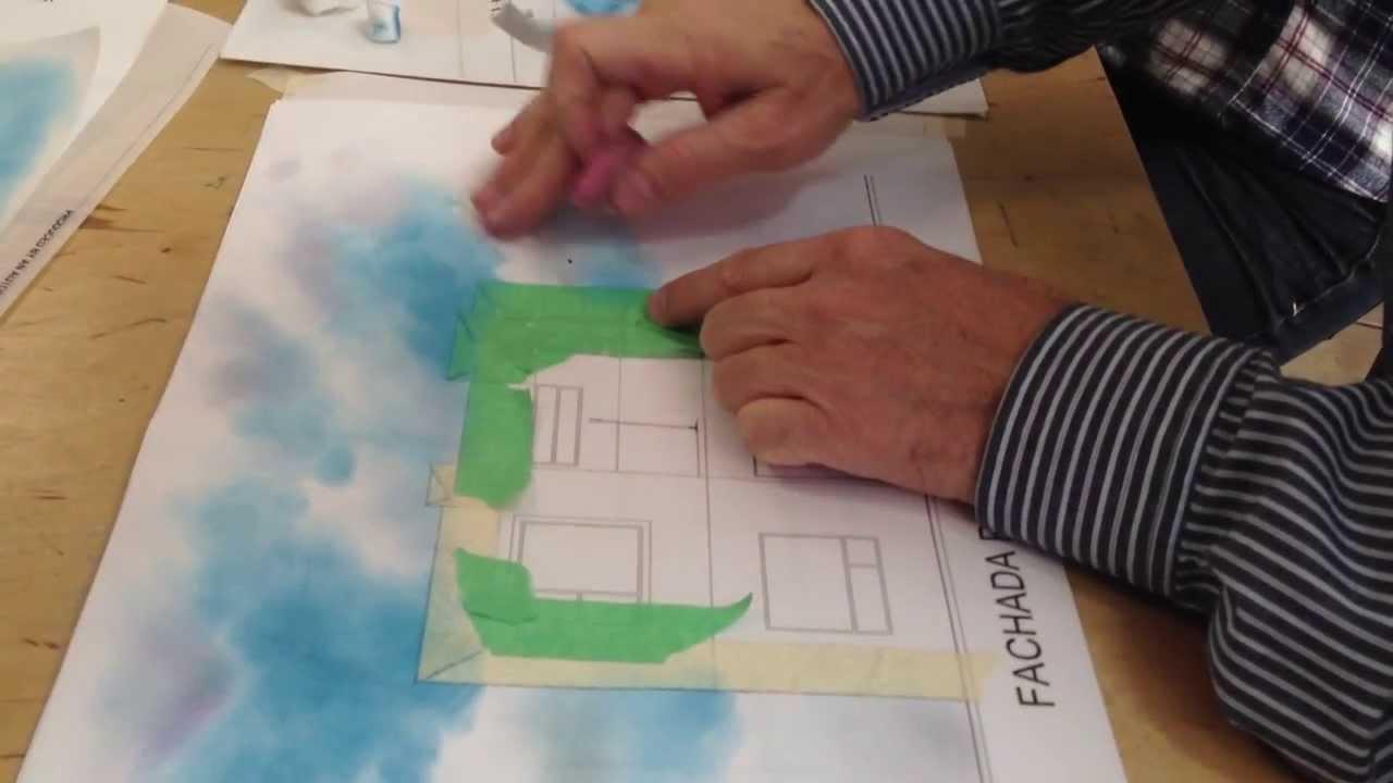 Representaci n de cielo en fachada youtube for Tecnicas de representacion arquitectonica pdf
