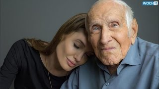 "Angelina Jolie Tears Up at ""Unbroken"" Premiere: Louis Zamperini ""Was Like a Father"" to Me"