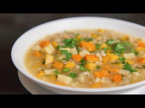 Овощной суп с перловкой и репой | Веганский рецепт