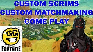 FORTNITE CUSTOM MATCHMAKING GAMES // COME JOIN IN SOME SCRIMS / MEMBER DAY