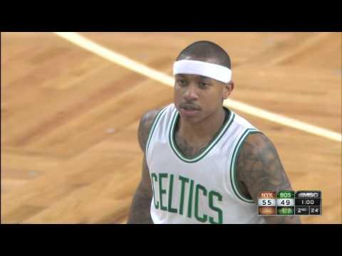 Carmelo Anthony Duels Isaiah Thomas in Boston