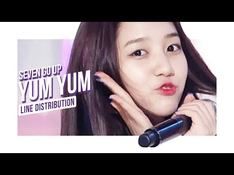 SEVEN GO UP - Yum Yum (Line Distribution)