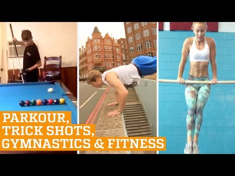 TOP FIVE: Parkour, Trick Shots & Bar Fitness   PEOPLE ARE AWESOME 2016