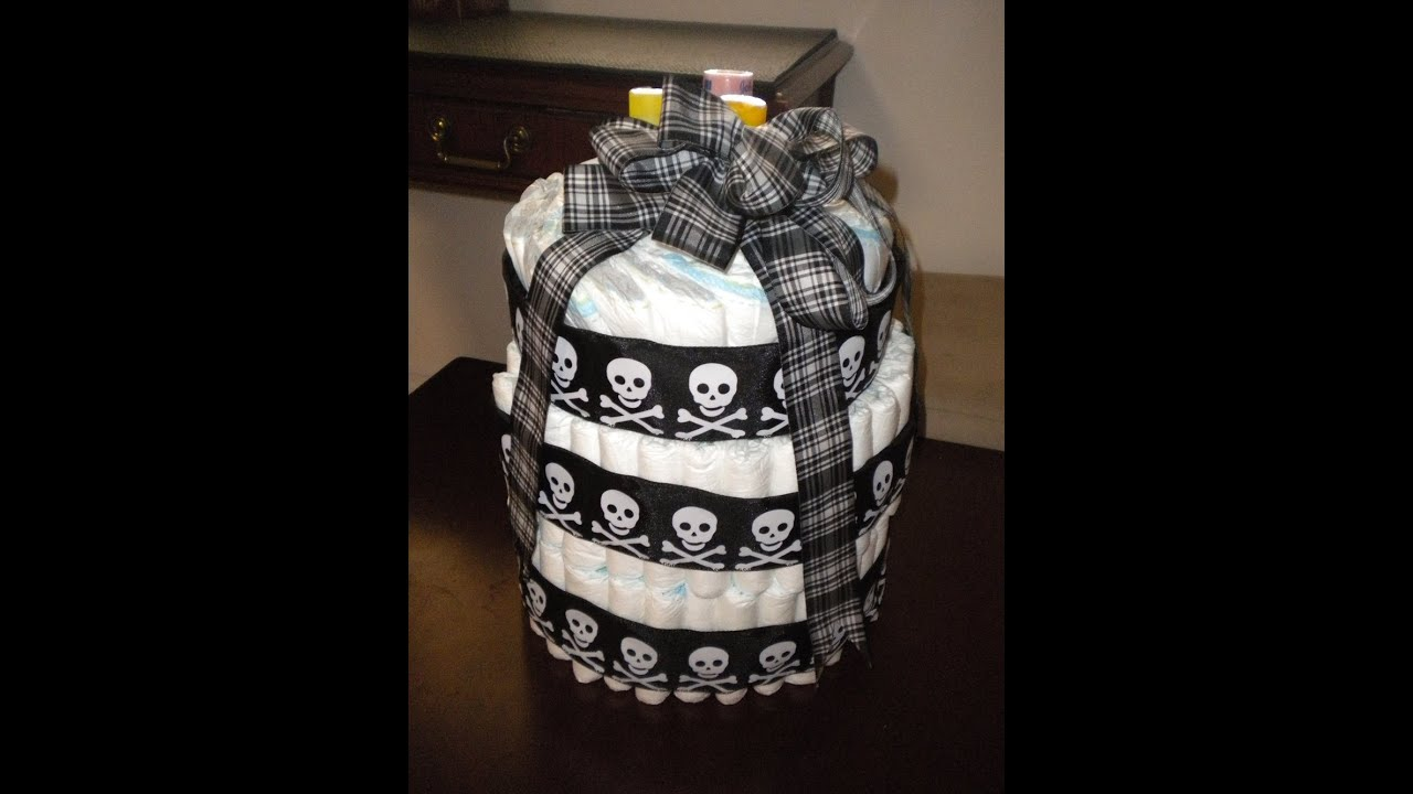 Quick And Easy Diaper Cake