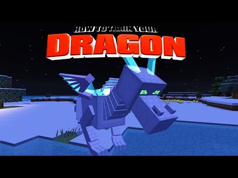Minecraft - How To Train Your Dragon - Riding The Ice Dragon ! [20] video
