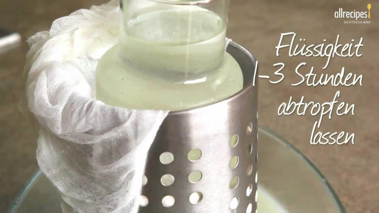 rezept k se selber machen spanischer frischk se queso blanco allrecipes deutschland youtube. Black Bedroom Furniture Sets. Home Design Ideas