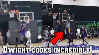 LeBron James Dwight Howard and Anthony Davis look INCREDIBLE in Lakers 1st practice after Media day