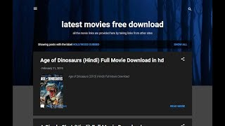 Latest movies free download (Hollywood movies in hindi, new Bollywood movies free download)
