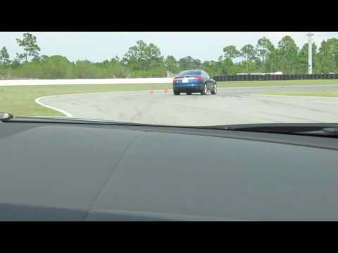 2010 Jaguar XFR pre-production track laps testing