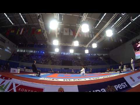 Luca Valdesi. Kata Individual Male Bronze match. 48th European Karate Championships