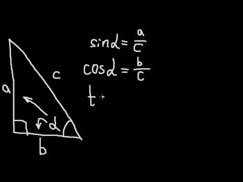 Геометрия. Синус, косинус и тангенс