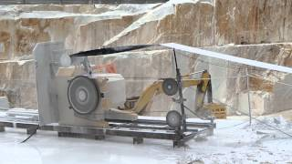 WIRE SAW CUTTING MACHINE S860EG IN CARRARA WHITE MARBLE QUARRY