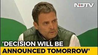 Congress To Name Next Chhattisgarh Chief Minister Tomorrow