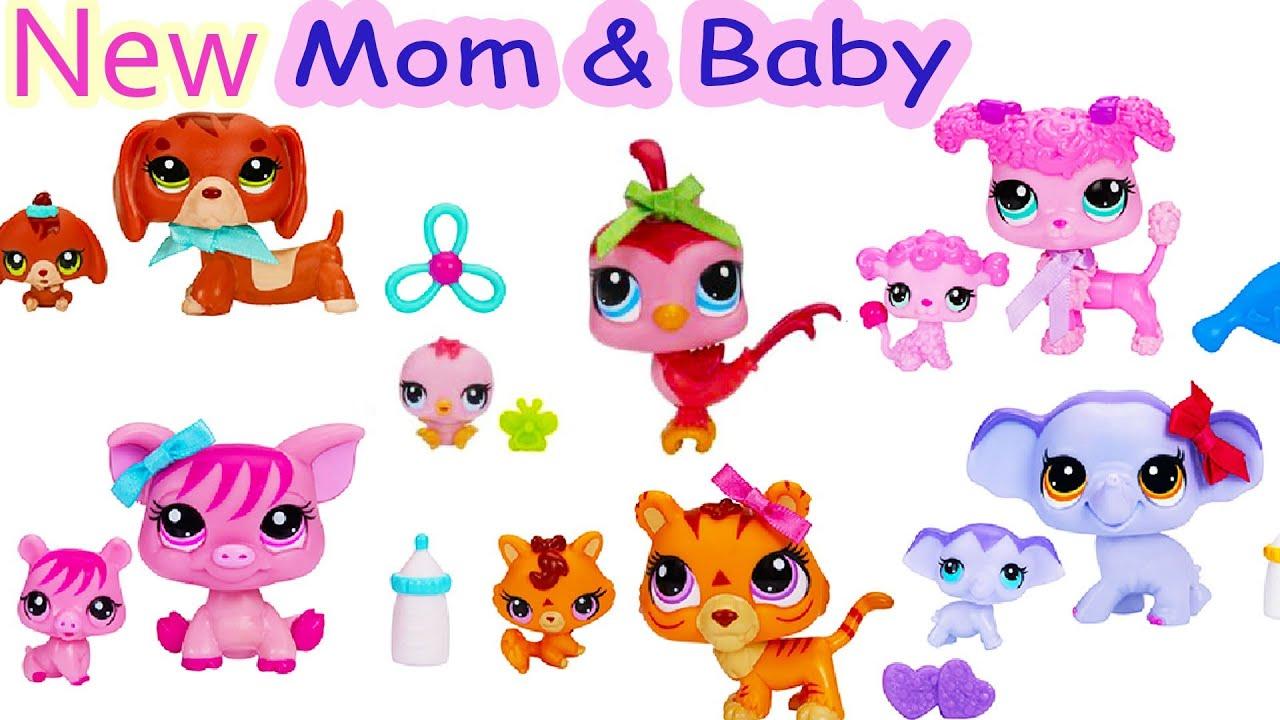 NEW Bobble Head Mommies and Babies Sets Littlest Pet Shop ...