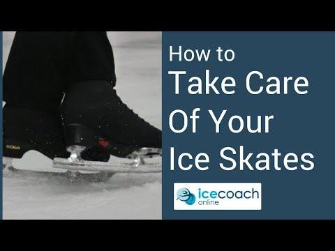 スケート靴 日頃の手入れと、靴が出来るまでの動画