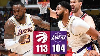 Anthony Davis scores 27, LeBron records another triple-double | 2019-20 NBA Highlights
