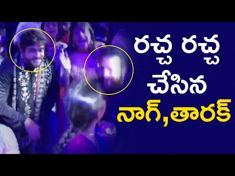 Nagarjuna SUPERB Dance with Jr NTR | SS Rajamouli Son Karthikeya Marriage | Telugu FilmNagar