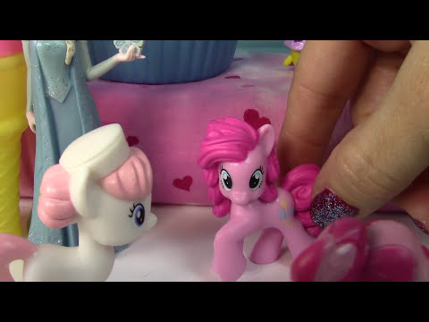 MLP Cake Family Babysitting Fun Set My Little Pony Pinkie Pie Pound Pumpkin Dazzle Carrot
