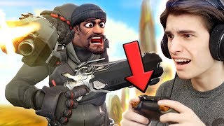 Playing Overwatch With A CONTROLLER on PC!?