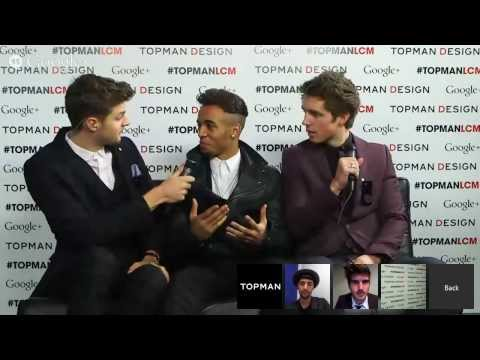 Jim Chapman and Marcus Butler Interviewing Aston Merrygold - Topman Shoppable Hangout