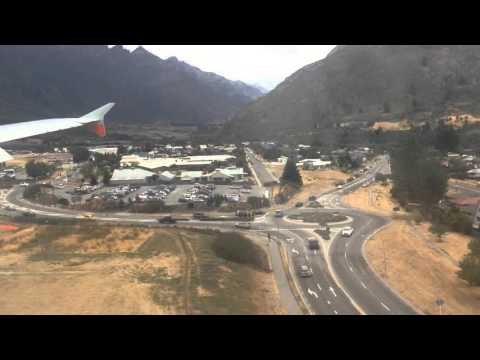 Crazy Landing at Queenstown airport in Jetstar A320
