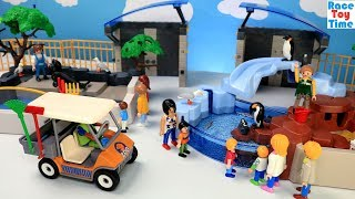 Playmobil Penguin's Habitat and Zookeepers Cart Playset For Kids