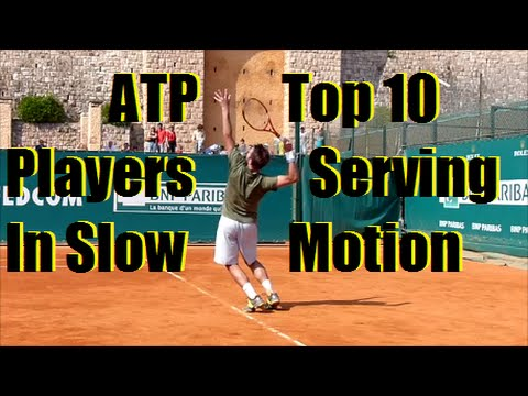 Top 10 ATP Serves Slow Motion