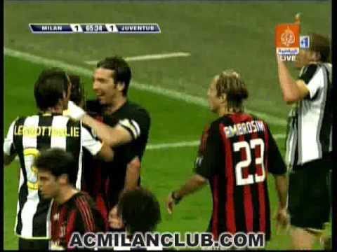 Maldini and Chiellini's little scuffle.