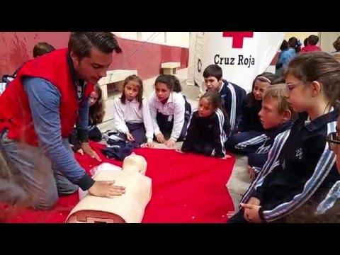 Hospital de campaña - Cruz Roja en el Colegio de La Presentación de Guadix