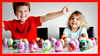 SURPRISE EGGS!!! Peppa Pig, Hello Kitty, Spiderman, Disney Princess and More!
