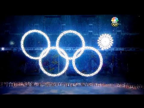 Ring Fails in 2014 Sochi Winter Olympics Opening Ceremony.