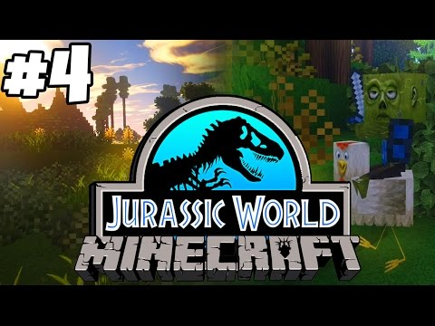 Jurassic World: Minecraft Dinosaurs | ZOMBIES RIDING CHICKENS (Playthrough Part 4)