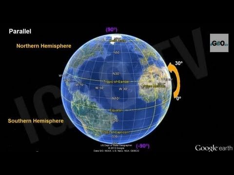 Earth, Parallels and Meridians, Latitude and Longitude ...