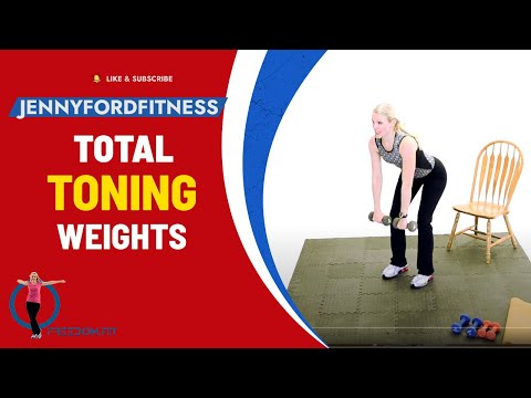 WEIGHTS TONING FITNESS EXERCISE WORKOUT