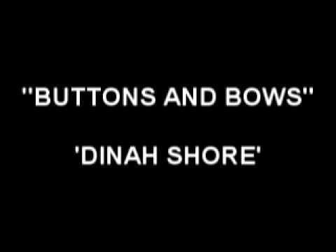 Button and Bows - Dinah Shore