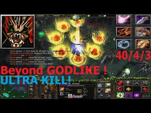 DotA 6.83d - Obsidian Destroyer Beyond GODLIKE ! (ULTRA KILL)