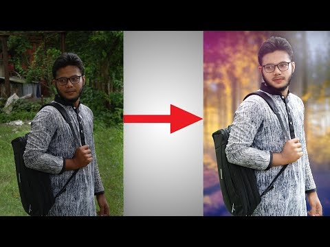 Photoshop Tutorial Easy Photo Manipulation | Change Background For Beginners | Amazing Tutorial Zone