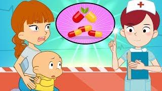 Hoạt hình Đậu Đậu   Tập 12   Chọn uống thuốc hay tiêm   DDTV