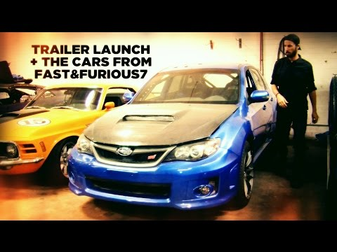 Trailer Launch + The Cars from Furious7