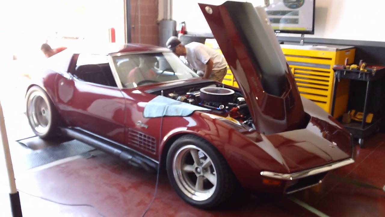 C3 Corvette 355 Chassis Dyno Pull 1 Youtube
