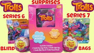 Dreamworks Trolls Surprise Toys Chupa Chups Series 7 6 Blind bags Opening Tins Light Up Fashion tags