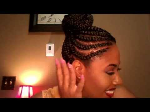 Braids *Top Knot* My Summer Hair Style Braided Bun
