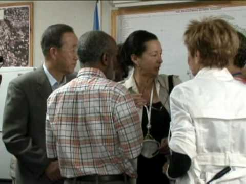 Ban Ki-moon en Haïti