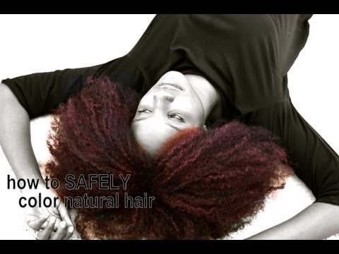 NATURAL HAIR how to temporary hair color | LHDC-TV