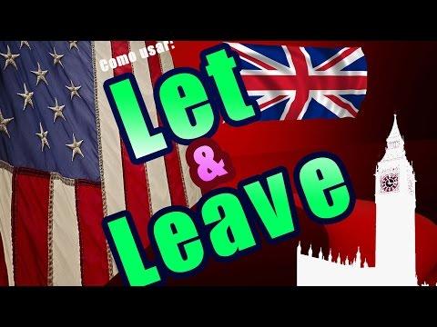 Diferencia entre LET y LEAVE en Inglés fácil y rápido / Palabras Confusas/ Aprender Inglés Básico