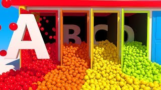 Learn Alphabet with Doors and 3D Balls