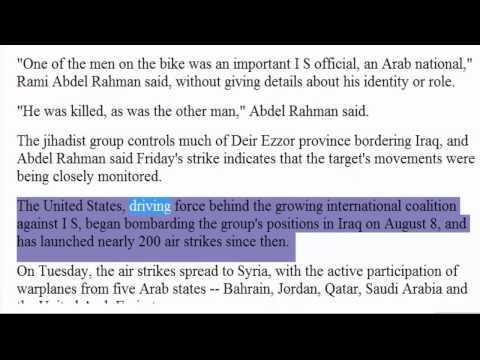 US airstrike kills ISIS ISIL IS Islamic State senior jihadist in Syria