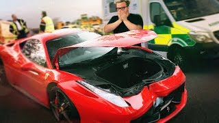 I CRASHED MY FERRARI! - SIDEMEN ROADTRIP! (PART 1)